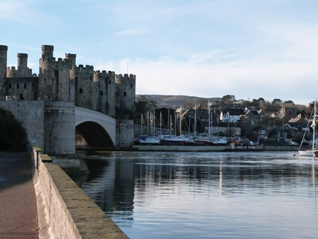 The ancient walled town of Conwy, North Wales